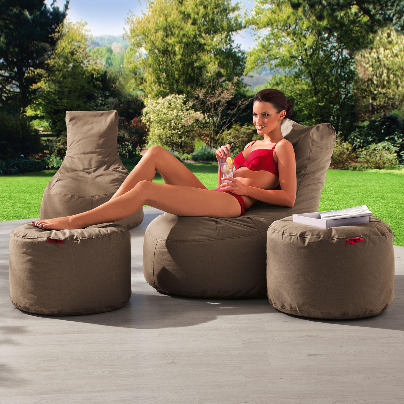 outbag rock outdoor rundhocker mit 3 jahren garantie. Black Bedroom Furniture Sets. Home Design Ideas