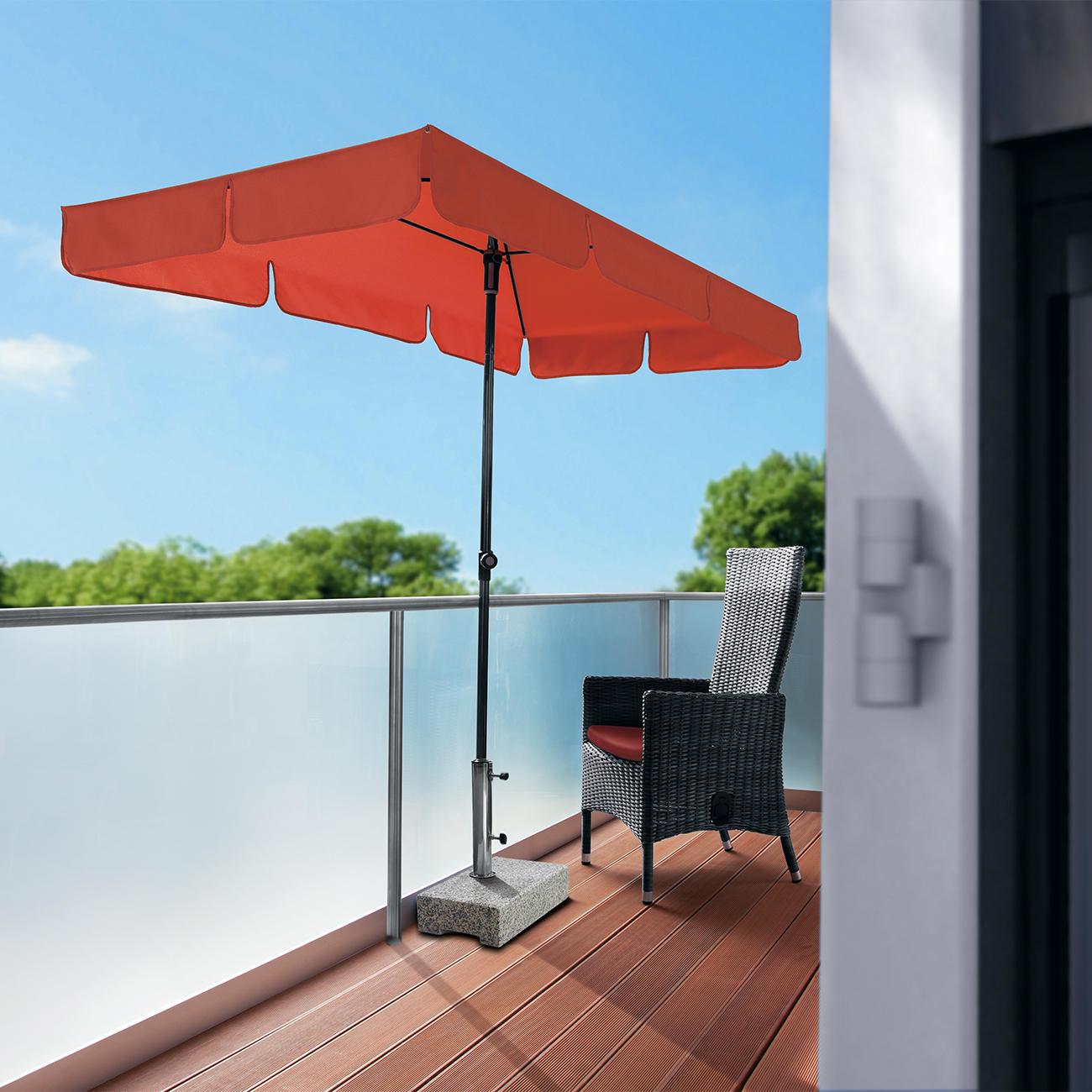 """Balkonschirm """"Sunline Waterproof III"""" Terrakotta L 225 x 120 cm"""