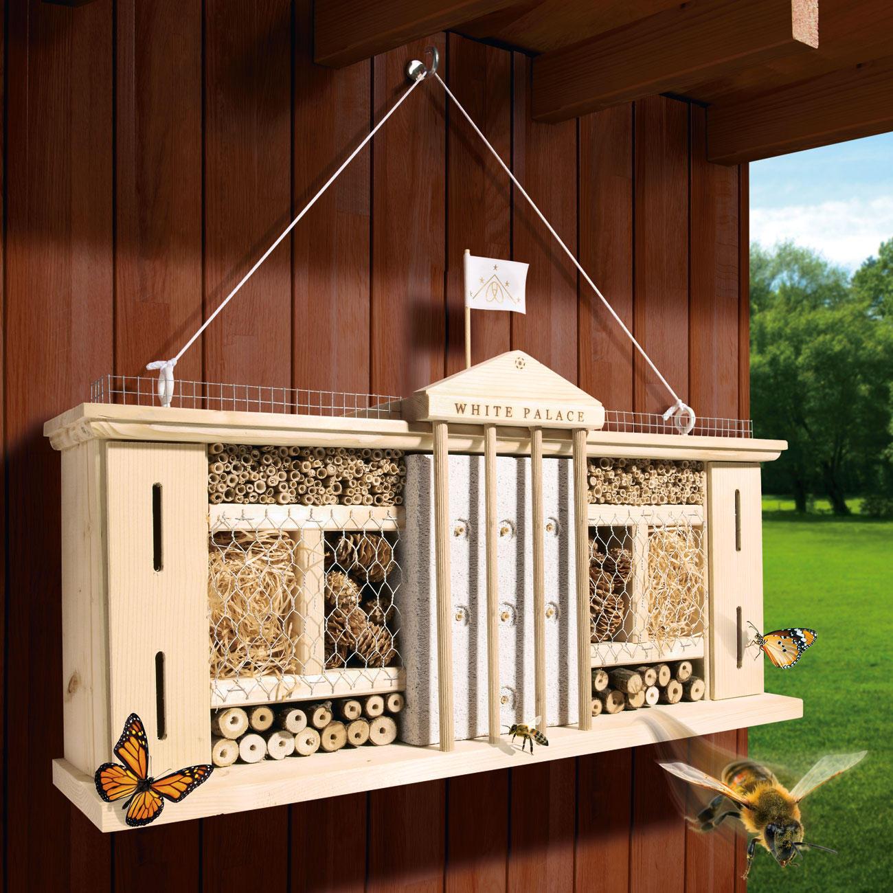 insektenhotel white palace mit 3 jahren garantie. Black Bedroom Furniture Sets. Home Design Ideas