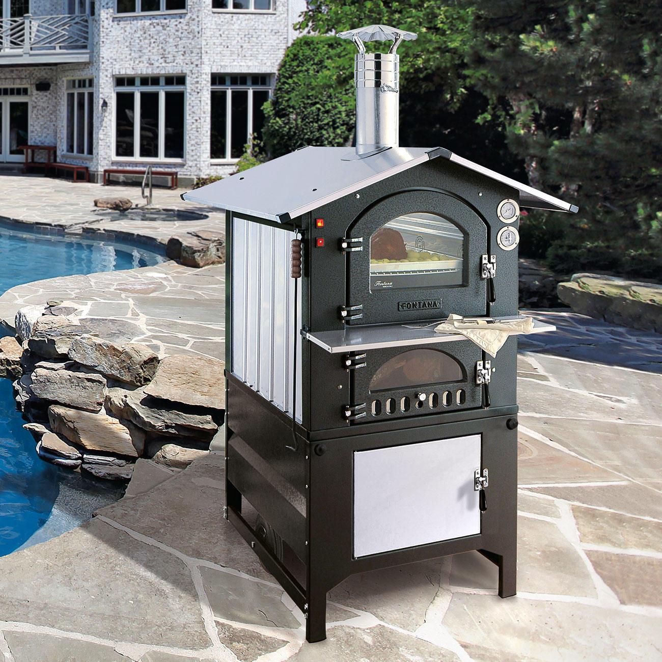 pizza holzbackofen fontana 3 jahre garantie pro idee. Black Bedroom Furniture Sets. Home Design Ideas