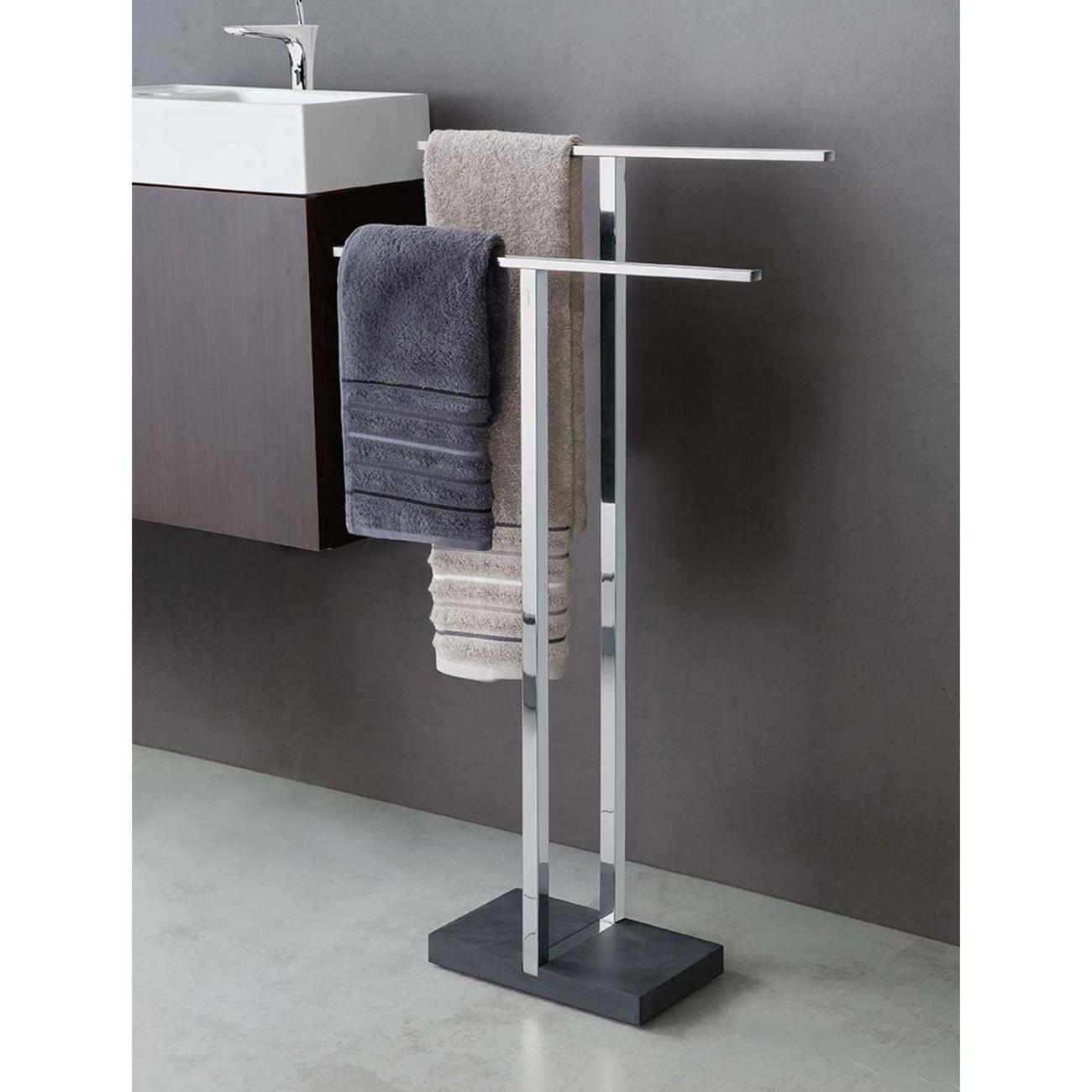 blomus handtuchhalter menoto edelstahl poliert polystone. Black Bedroom Furniture Sets. Home Design Ideas