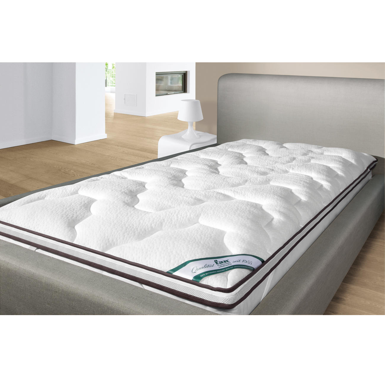 f a n topper taschenfederkern punktoflex softly 90 x 190 cm g. Black Bedroom Furniture Sets. Home Design Ideas