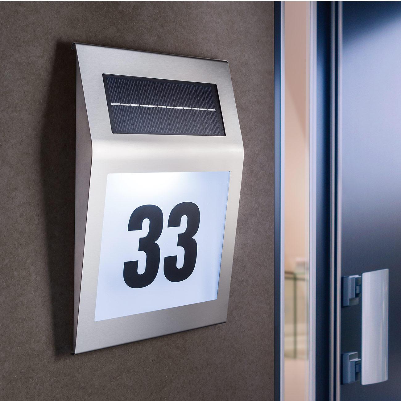 solar hausnummernleuchte 3 jahre garantie pro idee. Black Bedroom Furniture Sets. Home Design Ideas