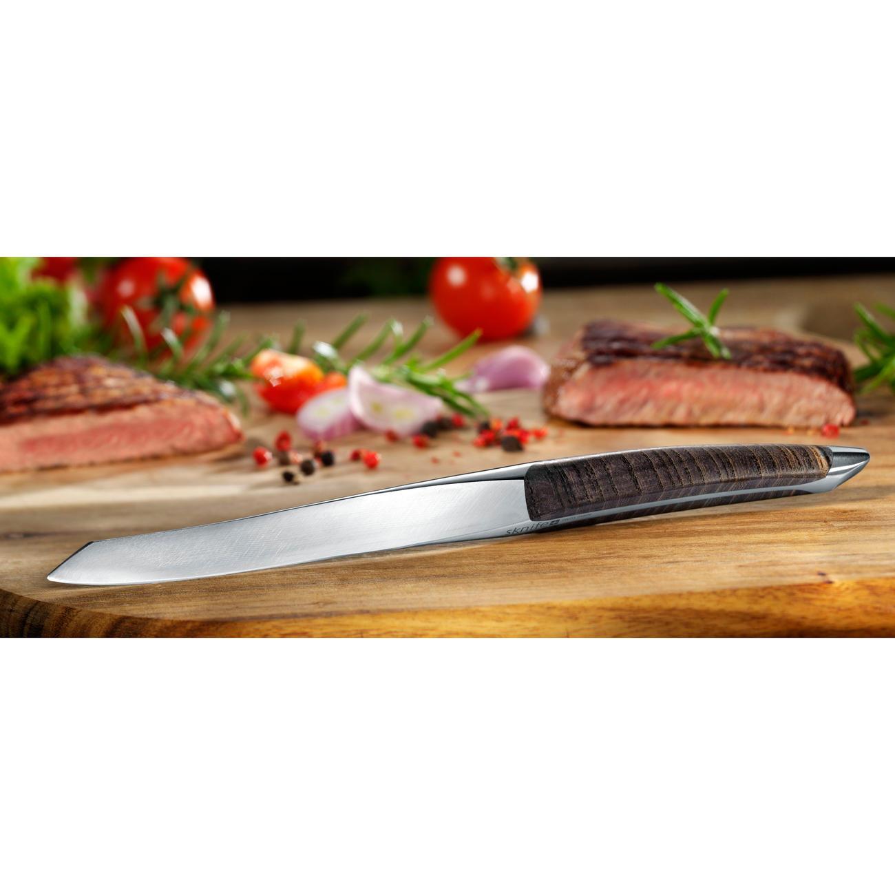 steakmesser sknife eschenholz mit 3 jahren garantie. Black Bedroom Furniture Sets. Home Design Ideas