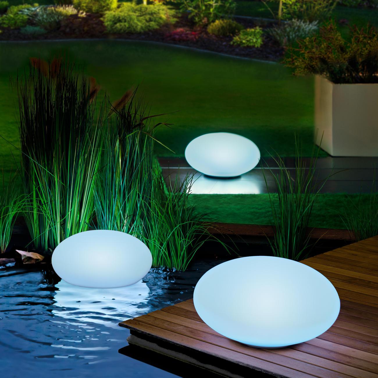 led solar gartenleuchte 30 cm oval online kaufen. Black Bedroom Furniture Sets. Home Design Ideas