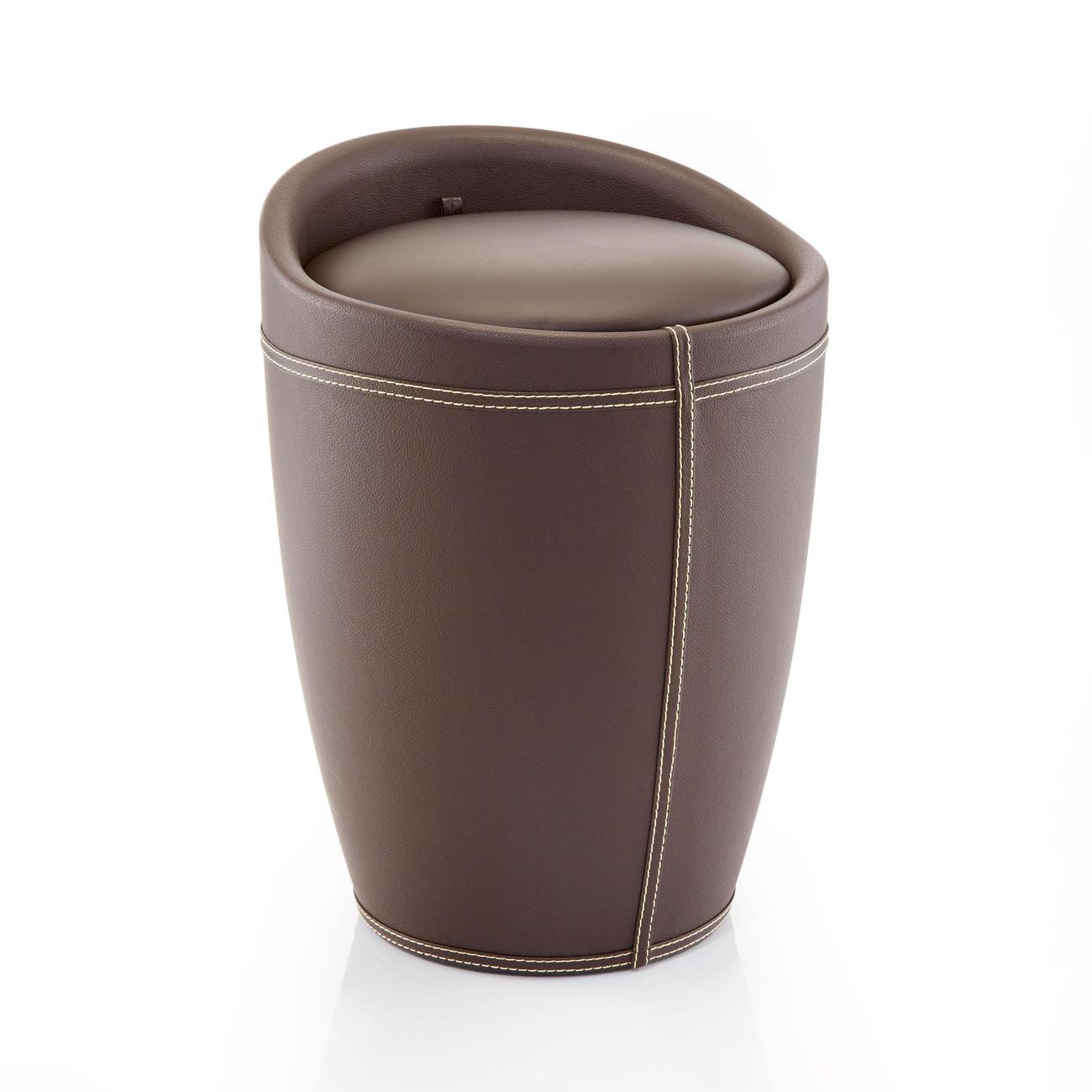 wenko badhocker w schehocker candy leder optik schwarz 50 5 cm h 36 cm durchmesser. Black Bedroom Furniture Sets. Home Design Ideas