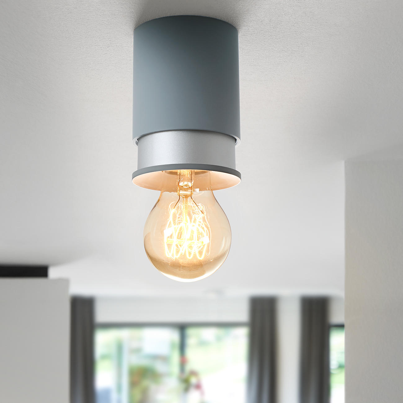twister lighting deckenleuchte classic anthrazit silber. Black Bedroom Furniture Sets. Home Design Ideas
