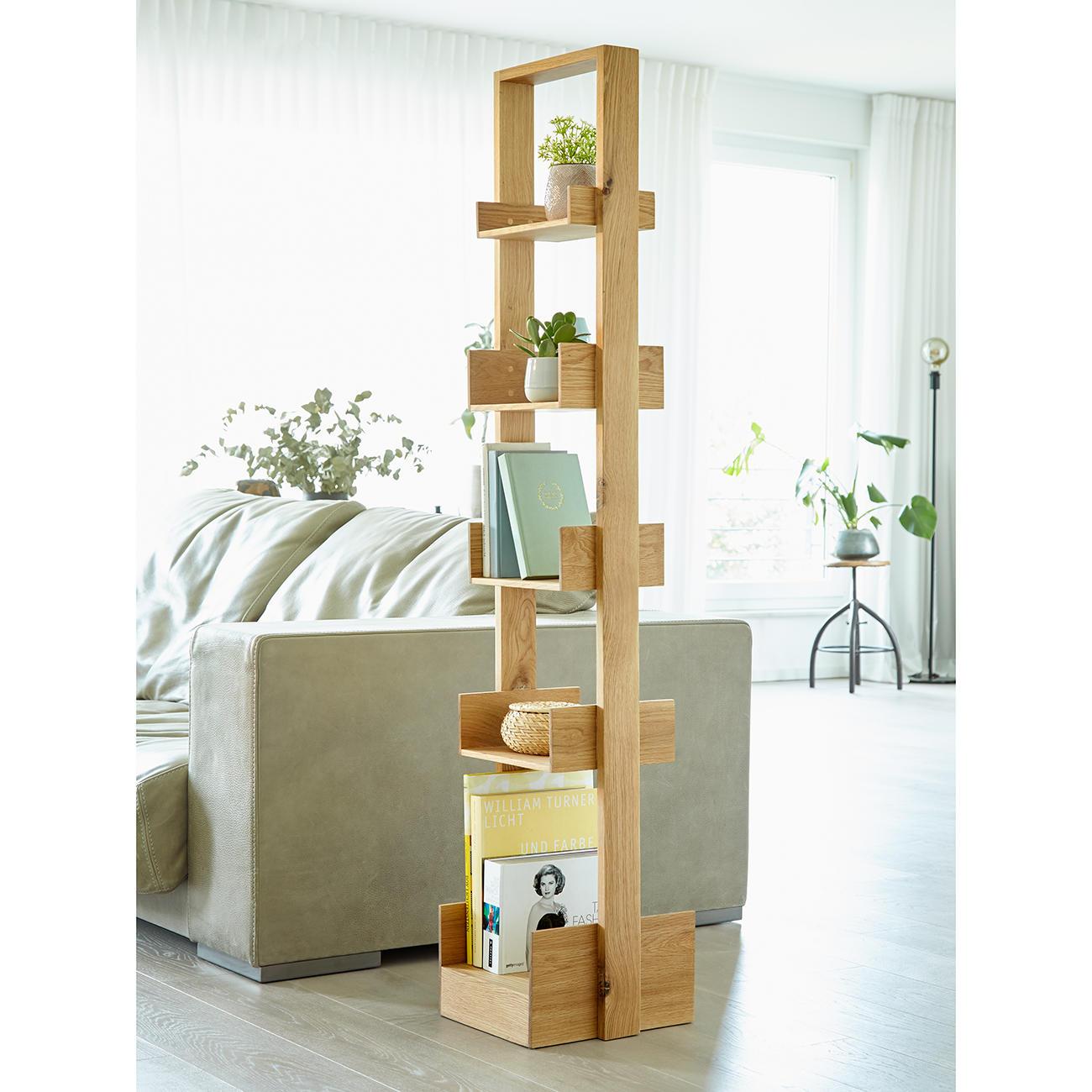 wireworks regal bookie eichenholz 30 cm b 155 cm h. Black Bedroom Furniture Sets. Home Design Ideas