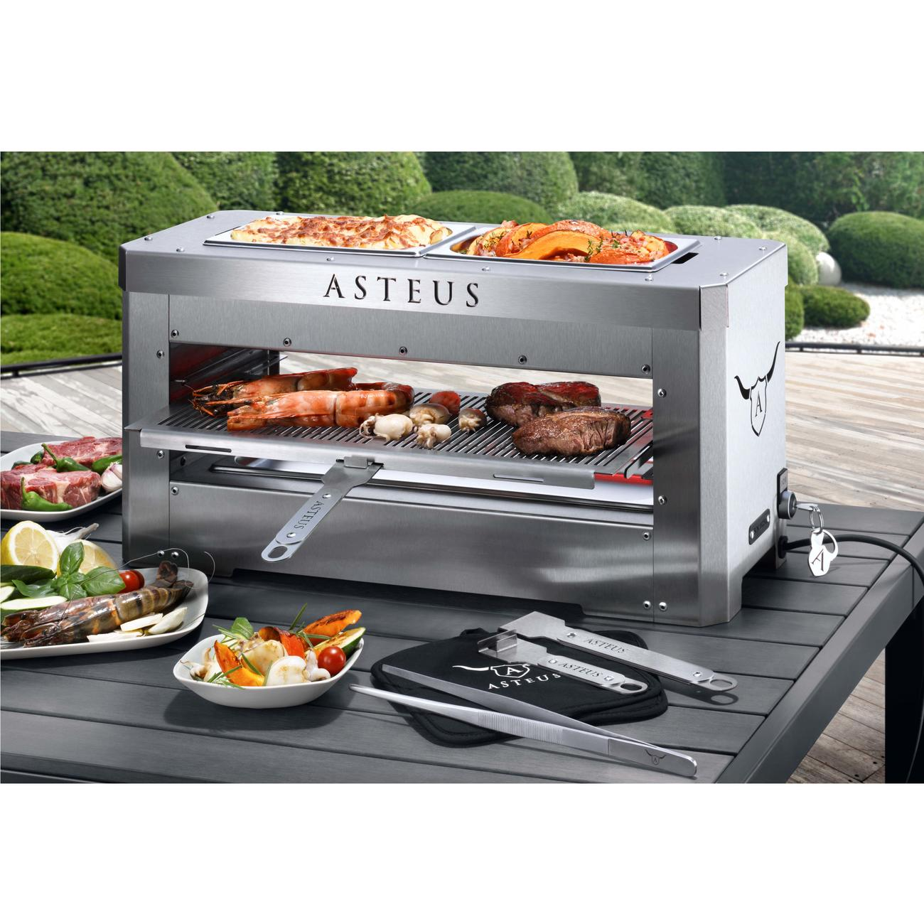 asteus steaker elektro infrarot grill ca 42x25x34 cm. Black Bedroom Furniture Sets. Home Design Ideas