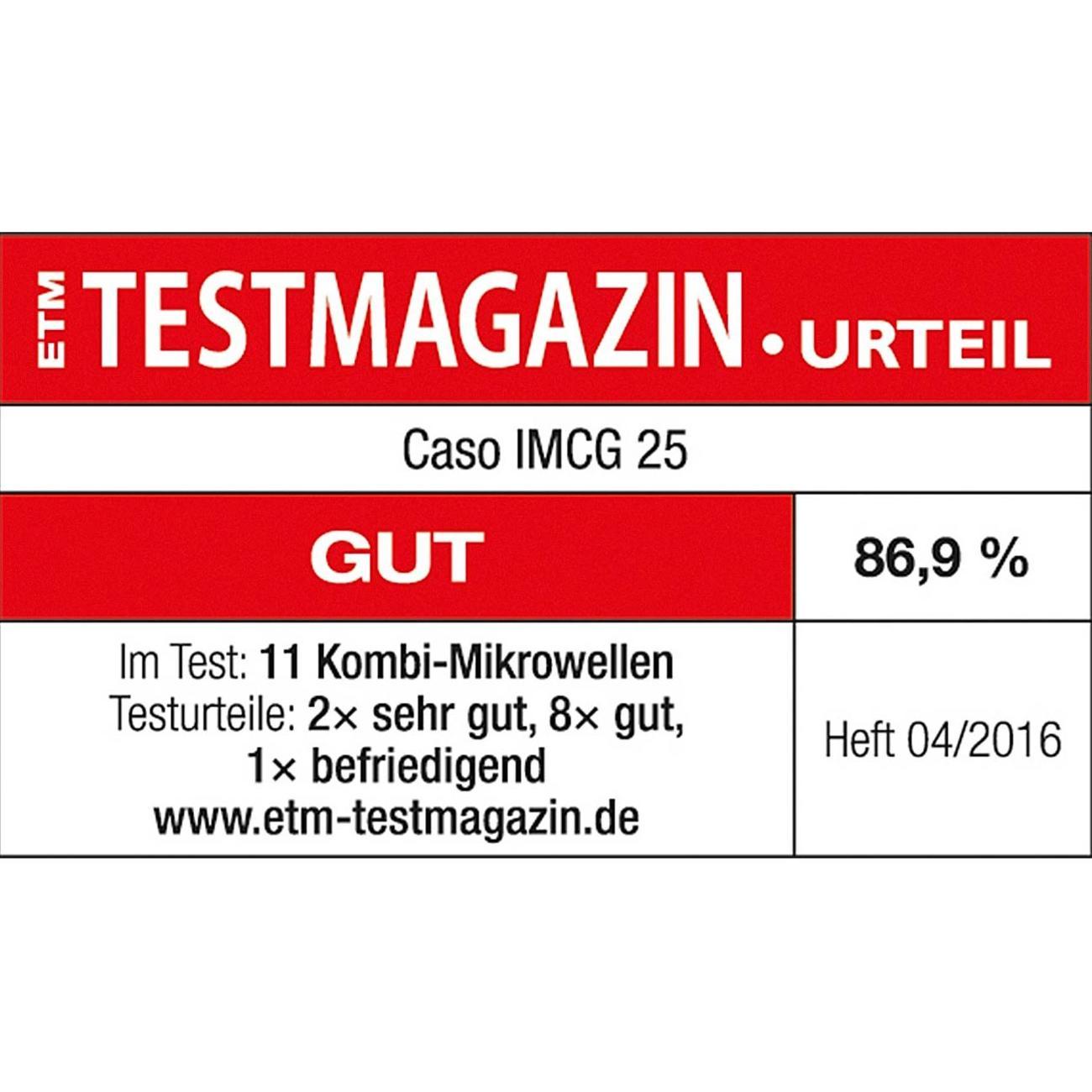 caso caso Heißluft Mikrowelle IMCG 25 mit Inverter