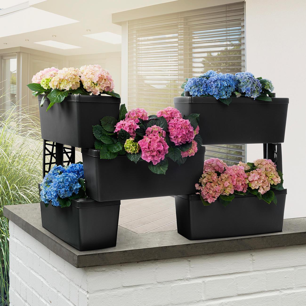pflanzkasten system brick 5er set online kaufen. Black Bedroom Furniture Sets. Home Design Ideas