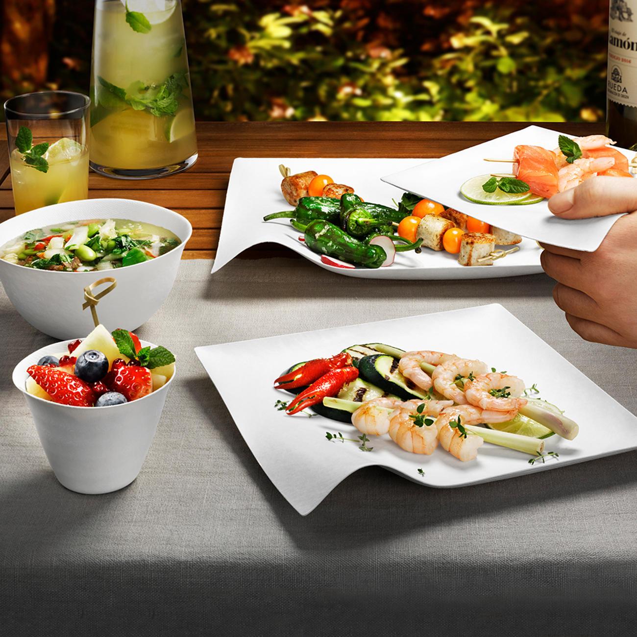 Design oneway geschirr 8er sets mit 3 jahren garantie for Tisch japanisches design