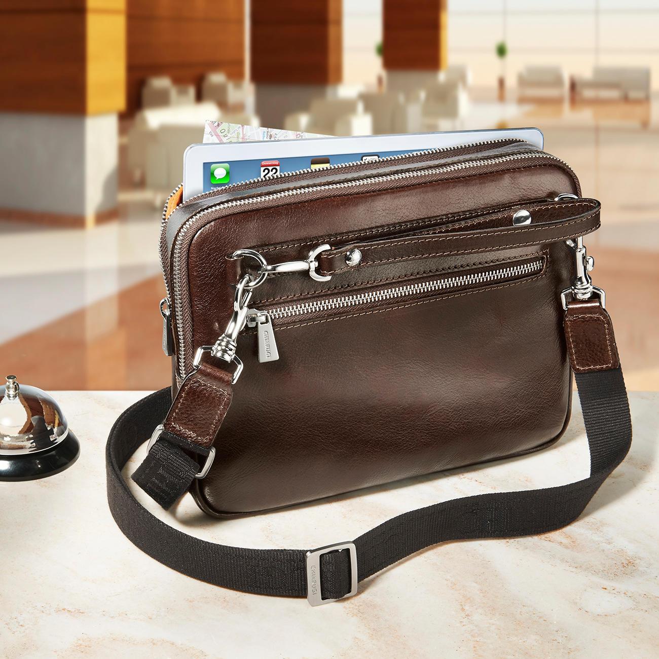 e8b2486e748af Chiarugi Personal-Bag. Der 80 cm lange Schulterriemen verwandelt die Tasche  ...