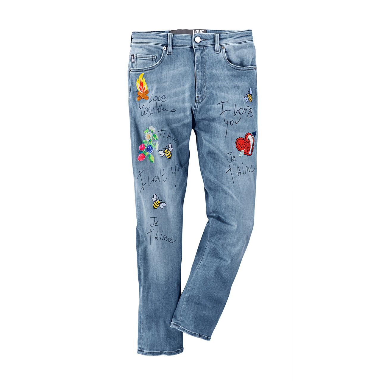 love moschino patch jeans 3 jahre garantie pro idee. Black Bedroom Furniture Sets. Home Design Ideas