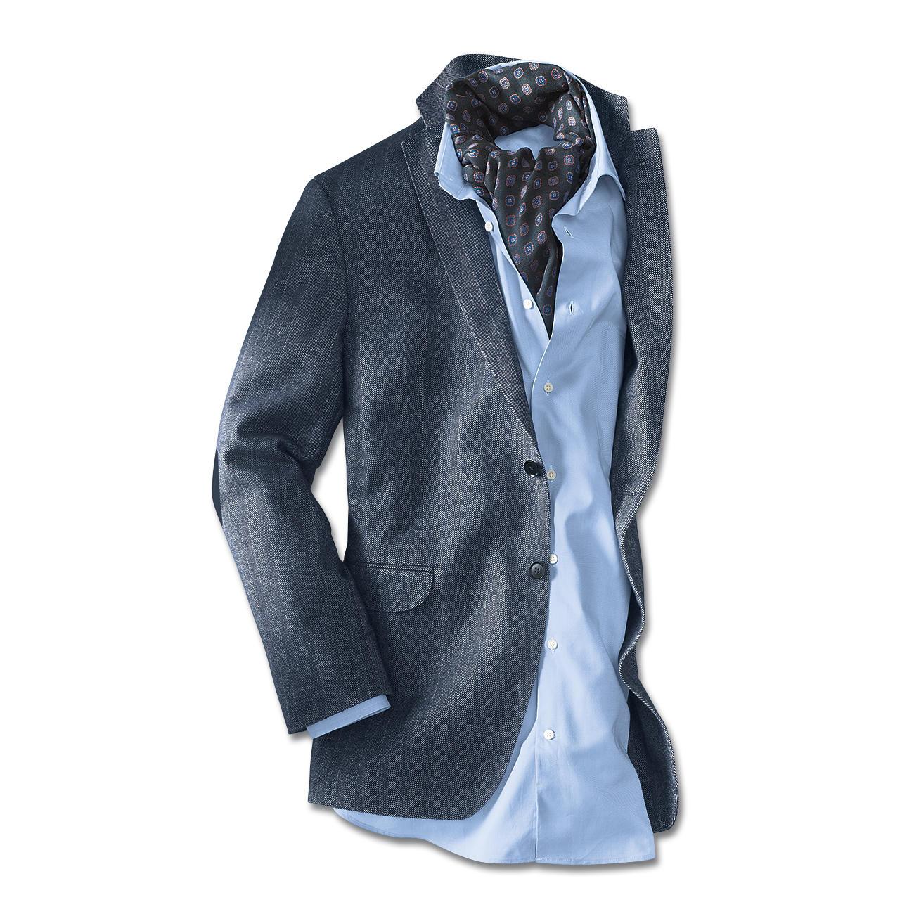 pima cotton sakko blau wei mit 3 jahren garantie. Black Bedroom Furniture Sets. Home Design Ideas