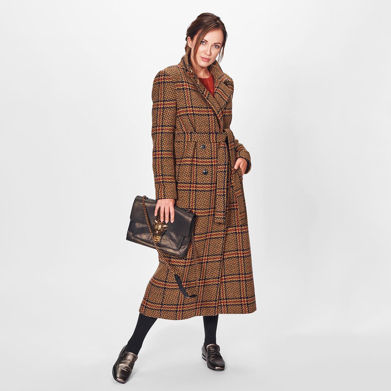 Mode Glencheck Mantel TWINSET FlatterkleidDesigner oder Nnvm8w0