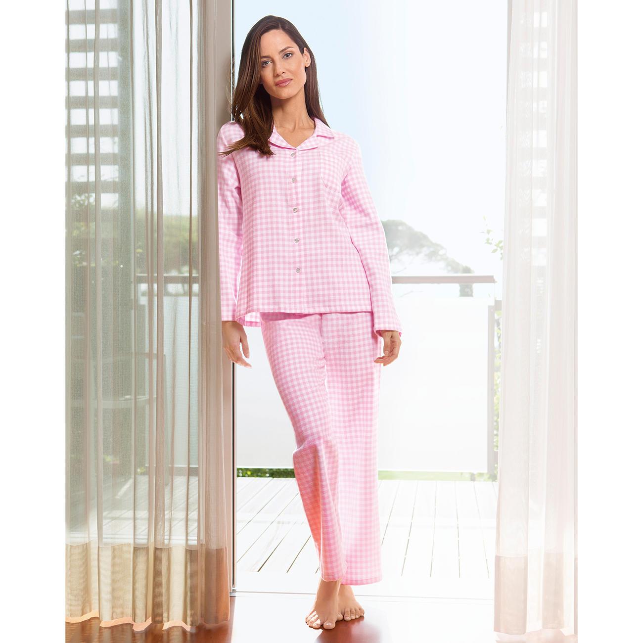 novila flanell pyjama vichykaro klassiker entdecken. Black Bedroom Furniture Sets. Home Design Ideas