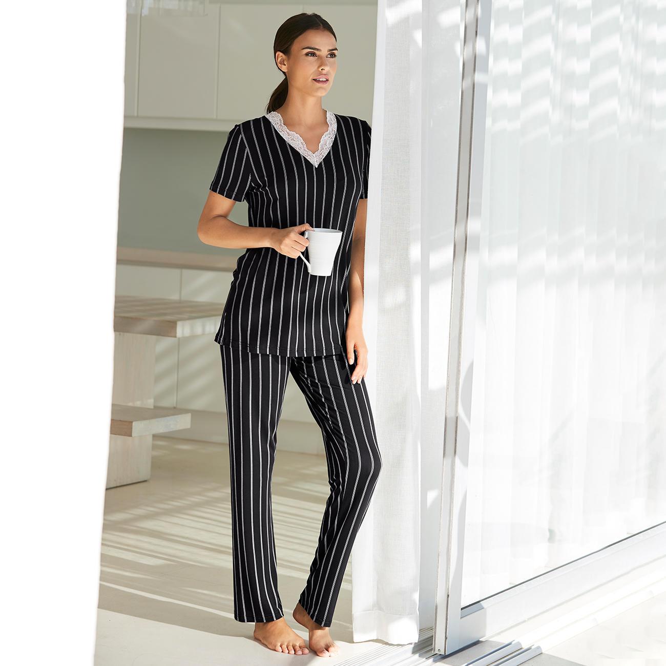 size 40 20b97 07496 Verdiani Nadelstreifen-Pyjama | Klassiker entdecken