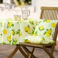 Provenzalische Tischwäsche - Stilvoll wie in der Provence. Dabei fleckabweisend, lichtecht und pflegeleicht. Für Drinnen und Draußen.