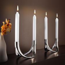 Kerzenhalter Bow, Set für 4 Kerzen - Phantastisch wandelbar: Endlich ein Kerzenleuchter, der zu jedem Tisch passt.