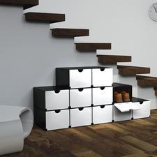 Geniale Faltboxen, Schwarz/Weiß