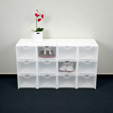 Geniale Faltboxen, Weiß/Transparent