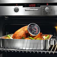 Präzisions-Ofen-/Bratenthermometer - Endlich ein Thermometer für Braten- und Ofentemperatur. Ideal auch zum Garen mit Niedrigtemperatur (70-80 °C).