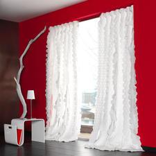 """Vorhang """"Rixa"""", 1 Vorhang - So spektakulär kann pures Weiß sein. Das Highlight der neuen """"White Passion""""-Kollektion von JAB Anstoetz."""