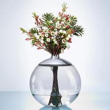 Der Ring mit 2 cm Ø Öffnung ist auch ideal für einzelne Lilien, Kirsch-, Hagebutten- oder Kiefernzweige.