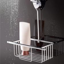 Den Duschkorb hängen Sie einfach an die Brausegarnitur.