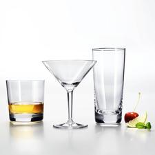 Whiskey-, Martini- und Longdrink-Glas
