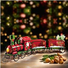 Nostalgischer Weihnachtszug - Bezaubernde Dekoration – und die schönste Art, Ihre Geschenke zu bescheren.