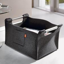 Wollfilz-Zeitungssammler - Trendy, tragkräftig und robust. Selten ist modernes Design so warm und wohnlich.