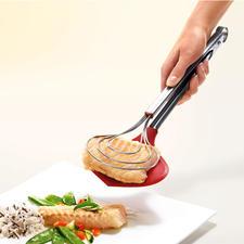 XXL-Kochzange - Endlich: die extra breite Küchenzange. Hält selbst empfindlichste Speisen sicher im Griff.