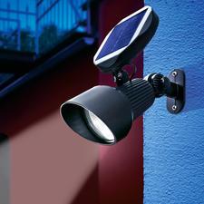 Solar Spotlight - Modernste LED- und Solartechnik hebt Ihre Garten-Highlights hellweiß hervor.