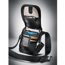 Safety-Umhängetasche - 3 schlechte Nachrichten für Diebe: Schnittfest. RFID-geschützt. Mit Alarm.