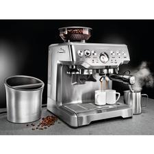 """Siebträger """"Barista Edition"""" inkl. Abklopfbehälter - Endlich eine professionell ausgestattete Siebträger-Maschine, die bei weitem keine 1.500,– € kostet."""