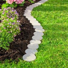 Vario-Rasenkantensteine, 12er-Set - Akkurate Rasenkante, kinderleicht zu verlegen. In Geraden, Kurven, Kreisen, ...
