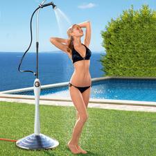 Solardusche Sunny Premium - Angenehm temperiertes Wasser statt kaltem Schauer – nur durch die Kraft der Sonne.