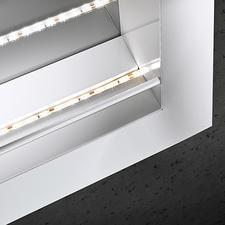 Für die indirekte Beleuchtung kleben Sie einfach den mitgelieferten LED-Stripe in den Rahmen.