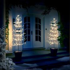 Lichterbaum 90 cm, 120 cm oder 180 cm - Geheimnisvoll leuchtende Deko-Bäume verzaubern Ihre Terrasse, Ihr Entree.