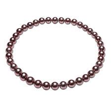 Tahiti-Zuchtperlen-Collier chocolate - Das perfekte Perlen-Collier zum Nude-Trend der aktuellen Mode. Kostbare, schokobraune Tahiti-Zuchtperlen.