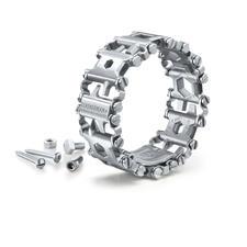 """Leatherman® Toolarmband Tread™ - Der """"Werkzeugkoffer"""" an Ihrem Handgelenk. Praktisch, vielseitig, immer dabei. Aus speziell gehärtetem Edelstahl."""
