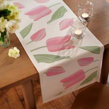 """Tischläufer """"Tulpen"""" - Bezaubernder Frühlingsbote. Und ein Meisterwerk schwedischer Webkunst."""