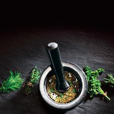 Gewürzmischungen, Pesto, Marinaden, … gelingen viel schneller und leichter.