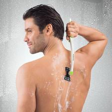 Eingeklappt besonders handlich für die Rasur gut erreichbarer Körperstellen.