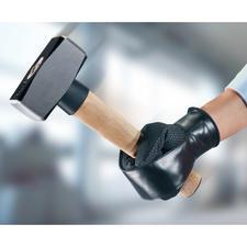 Wenn Sie das Werkzeug in der Hand halten, einfach die Haltelasche um die Faust wickeln und per Klettband auf dem Handschuhrücken fixieren.