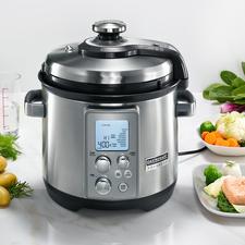 Gastroback Multicook Professional - Genial: elektrischer Dampfdruck-Garer und Slow Cooker in einem.