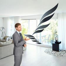 """Mobile """"Rhythm"""" - Dänisches Design, das die Seele beflügelt. Aus eloxiertem Aluminium – faszinierend wie gigantische Schwingen."""