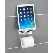 """WC-Rollenhalter """"Multimedia"""" - Mit rutschsicherer Ablage für Smartphone oder Tablet."""